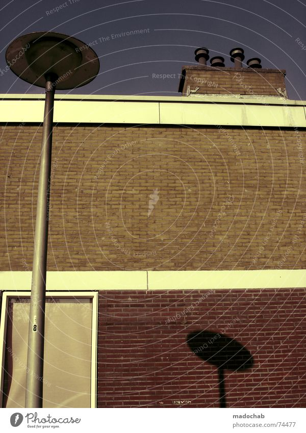 KORREKTUR Himmel Stadt blau Wolken Haus Fenster Leben Architektur Herbst Gebäude Freiheit fliegen oben Arbeit & Erwerbstätigkeit Wohnung Design