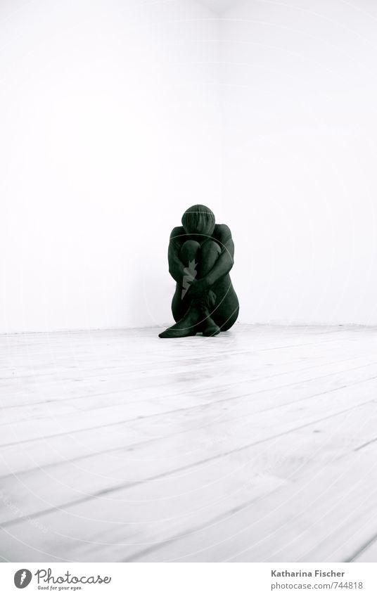 #744818 maskulin feminin androgyn Mensch 18-30 Jahre Jugendliche Erwachsene 30-45 Jahre 45-60 Jahre 60 und älter Senior Kunst Kunstwerk Skulptur sitzen grau