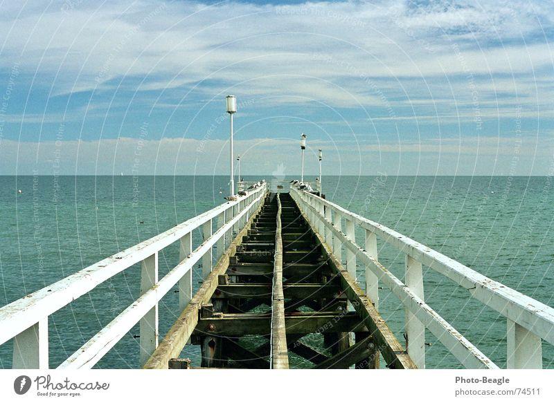 Aus die Maus See Meer Meerwasser Seebrücke Anlegestelle Lampe Laterne Licht Holz Holzmehl Ferien & Urlaub & Reisen Ostsee baltische see baltic sea ocean Wasser