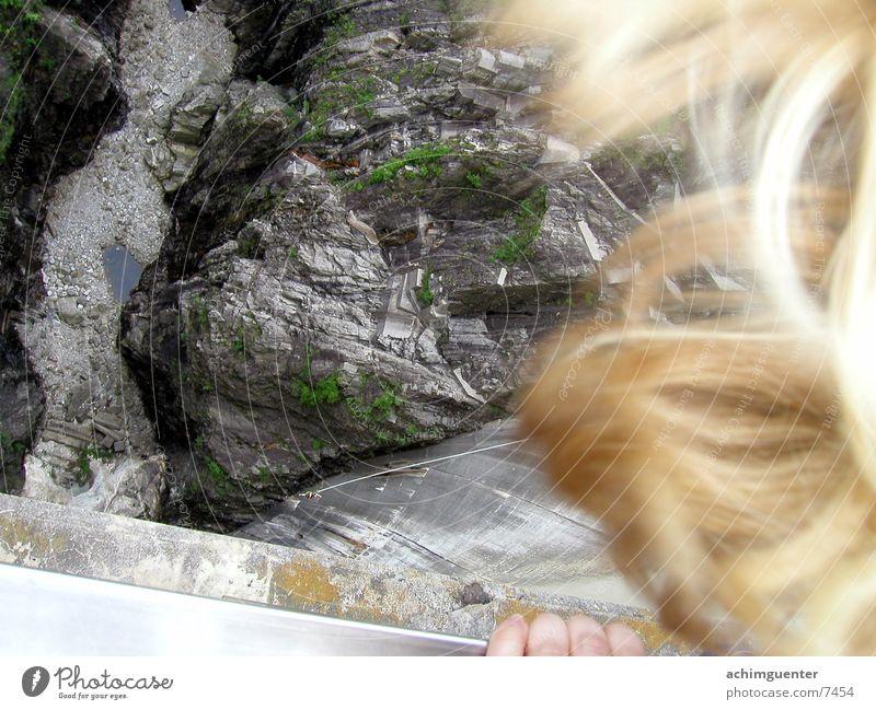 Bungee Jump Staumauer Sport Perspektive Felsen Tal