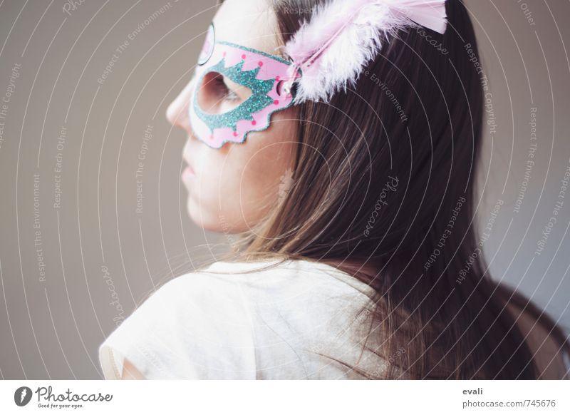 Fremde Frau? Mensch Kind Jugendliche Junge Frau 18-30 Jahre Erwachsene Gesicht feminin Haare & Frisuren rosa warten 13-18 Jahre beobachten Maske verstecken