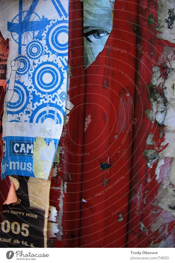 lousy pictures Strukturen & Formen Oberfläche Eisen Hintergrundbild Poster Veranstaltung Vergangenheit vergangen Zusammensein Metall ankündigung Auge Blick