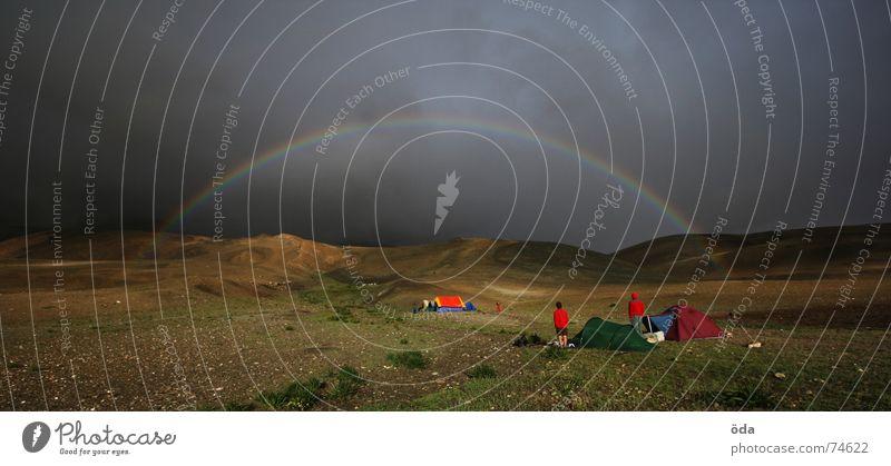 Apocalypse now #1 Wolken Farbe dunkel Berge u. Gebirge Sturm Indien Camping Regenbogen Zelt Lager Schlafplatz Schneeberg