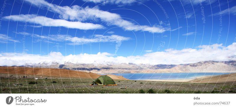 Base Camp Himmel See Indien Camping Zelt Lager Schlafplatz Lagerplatz Ladakh Tsomoriri