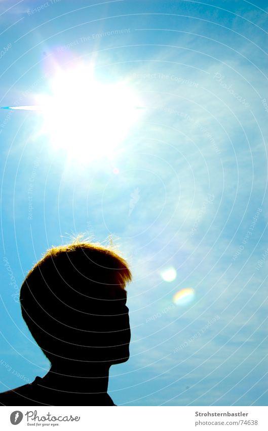 Schattenseite Sonne siluette Silhouette Himmel uv