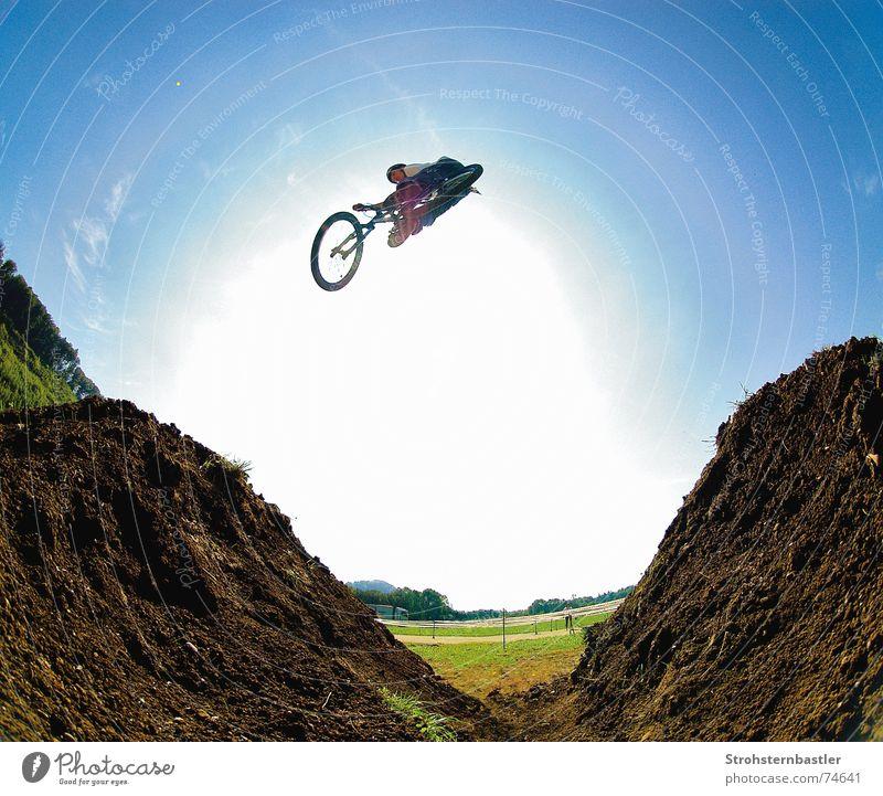 Xup fisheye Fischauge Silikon Fahrrad Coolness dirt dreckig Himmel Silhouette Sonne Schatten