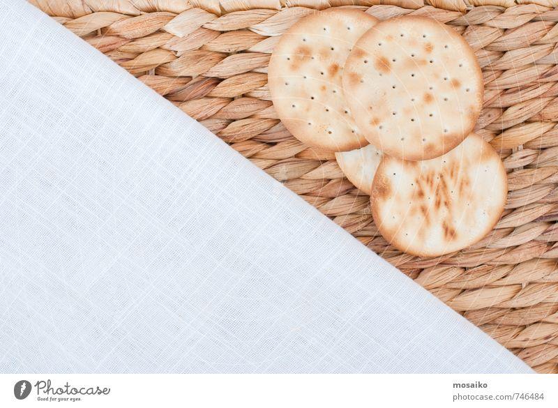 Kekse Sommer weiß Essen Hintergrundbild Lebensmittel hell Ernährung Fitness trocken Bioprodukte graphisch Frühstück Appetit & Hunger diagonal Diät Text