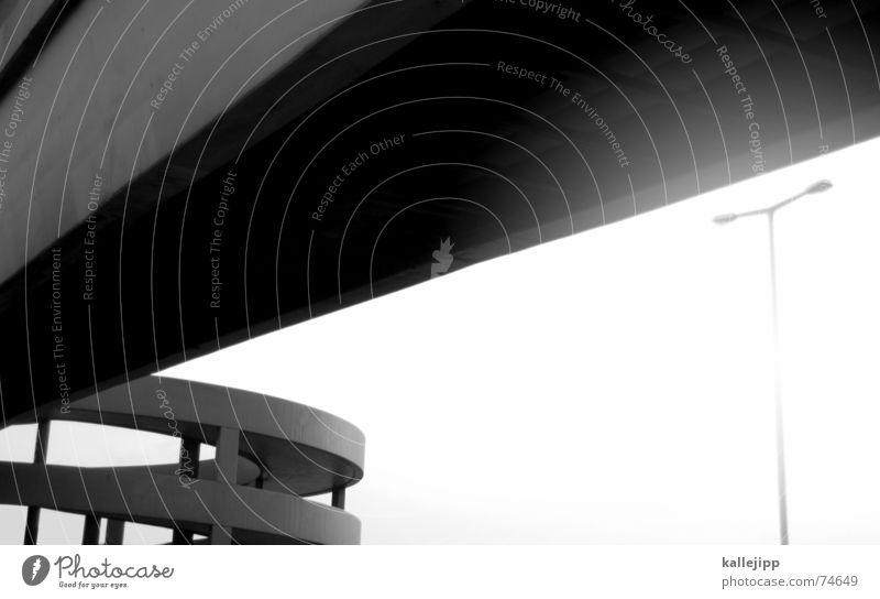 spaceship ten Autobahn Fußgängerübergang Spirale Laterne Space Shuttle Brücke Sonne UFO kallejipp