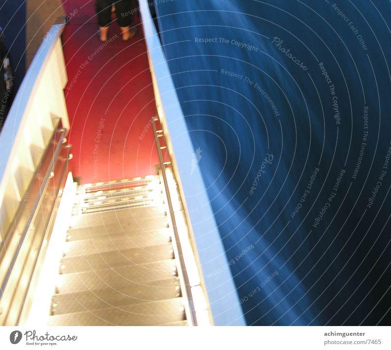 helle treppe Wasserfahrzeug Lampe Wellen Licht Geschwindigkeit Schifffahrt Treppe Abend Geländer