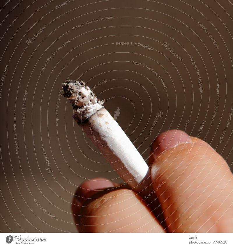 zum Abgewöhnen Jugendliche Erholung Junge Frau Hand feminin Gesundheit braun Finger Coolness festhalten Rauchen Krankheit Stress Tabakwaren Rauschmittel
