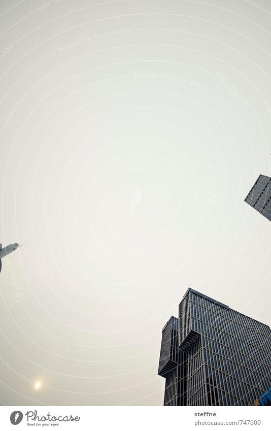 Stadt der nicht aufgehenden Sonne Sonnenaufgang Sonnenuntergang schlechtes Wetter Peking China Hauptstadt Skyline Hochhaus stickig Nebel Dunst