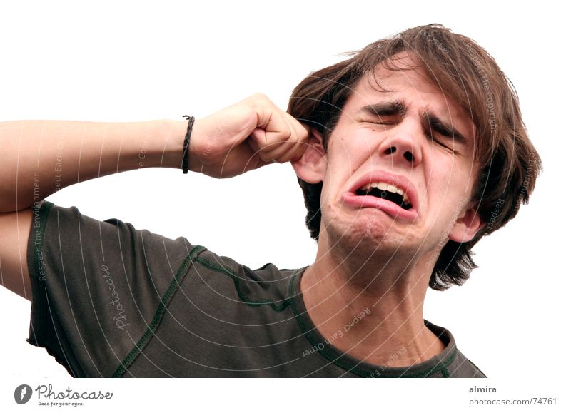 Der Mann der 1000 Gesichter Hand Jugendliche Kopf Arme Ohr Wut lang schreien Schmerz weinen ziehen Täuschung Verzerrung Schauspieler