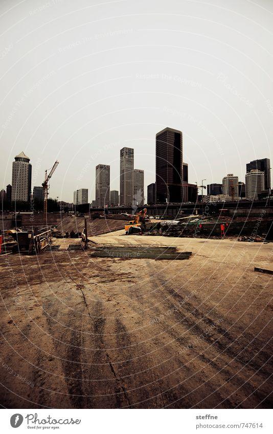 Expansion Stadt Wachstum Hochhaus Baustelle Skyline China Peking