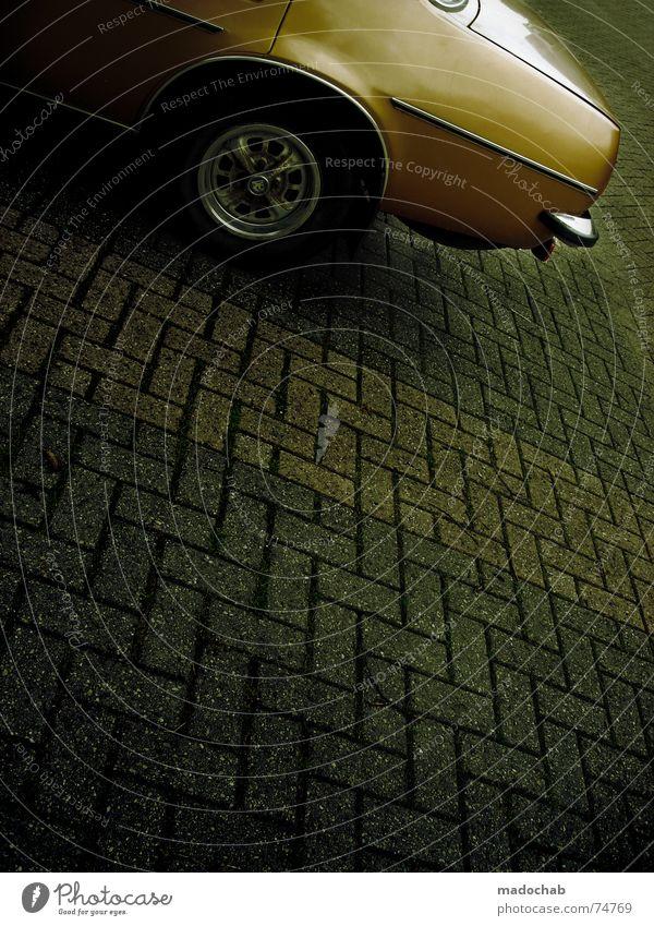 CONCRETE TRASH weiß Straße grau PKW Linie orange Hintergrundbild Schilder & Markierungen Verkehr trist Bodenbelag Grafik u. Illustration Asphalt unten Quadrat trashig