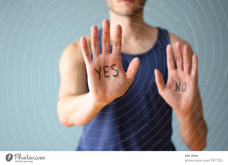 ...und EINS Mensch Mann blau Hand Erwachsene sprechen Gesundheitswesen maskulin Business Erfolg Finger Fitness Team sportlich stark positiv