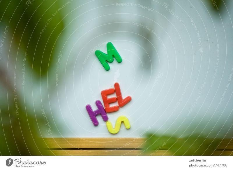 MHELS Lifestyle Freizeit & Hobby Garten Stadt Mauer Wand Kunststoff Zeichen Schriftzeichen Schilder & Markierungen schreiben Neugier Freude Interesse lernen