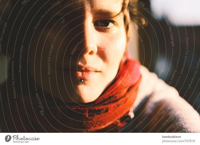je te vois ruhig Gesicht Liebe feminin Stimmung Freizeit & Hobby Zufriedenheit Klima ästhetisch Mund genießen beobachten Freundlichkeit Neugier Lippen Vertrauen