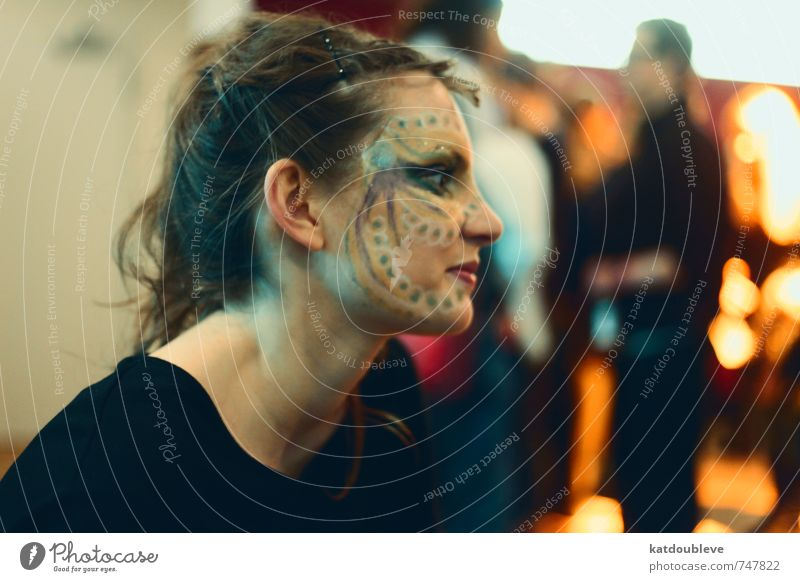 théâtre magique- prix d'entrée: votre esprit Gesicht Kunstwerk Theaterschauspiel Bühne Schauspieler Denken Kommunizieren Blick Spielen außergewöhnlich
