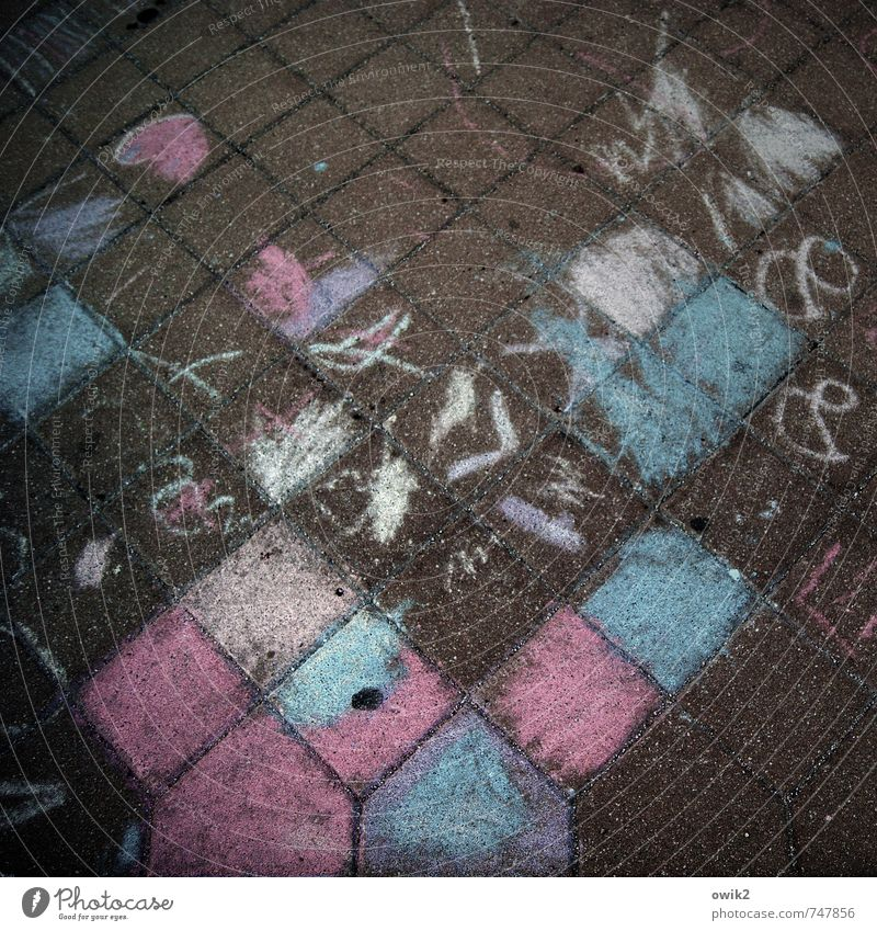 Kreuzworträtsel blau Stadt weiß Wege & Pfade grau Kunst Design modern verrückt Fröhlichkeit Kreativität violett Gemälde fest Leidenschaft unten