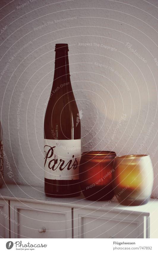 On Day in Paris Lebensmittel Glas Romantik Getränk Küche Kerze Wein Skyline Frankreich Hauptstadt Küssen Flasche Sightseeing Städtereise Erfrischungsgetränk