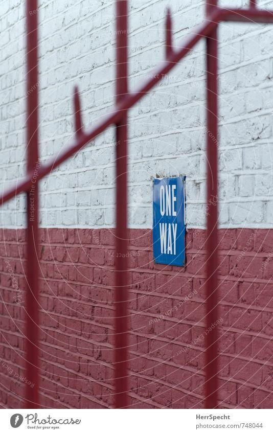 NO WAY London England Stadt Stadtzentrum Haus Bauwerk Gebäude Architektur Mauer Wand Stein Metall Schriftzeichen Schilder & Markierungen Hinweisschild