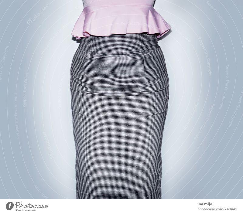 business-outfit Mensch Frau Kind Jugendliche Junge Frau 18-30 Jahre Erwachsene feminin Stil grau Mode rosa Business Lifestyle Körper elegant