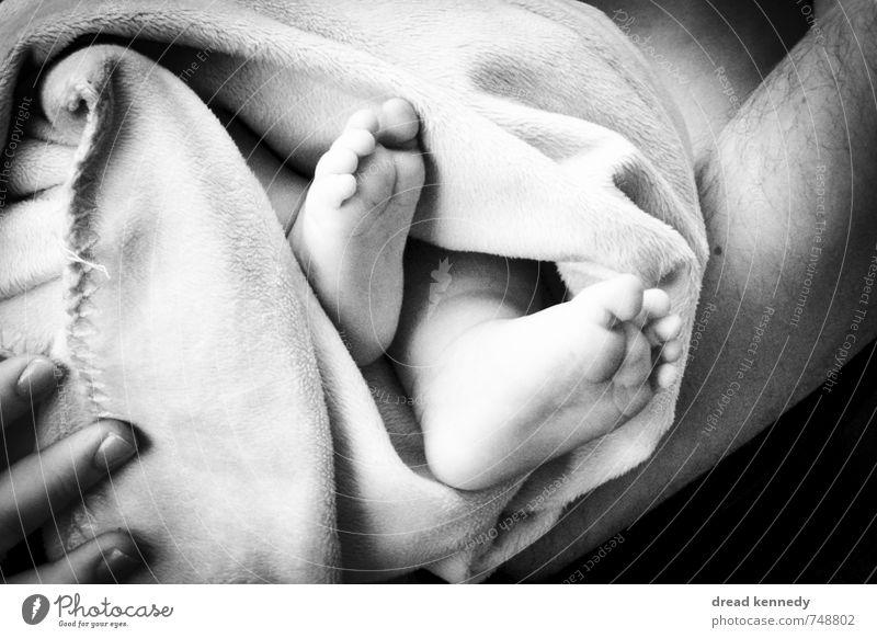 Babyschritte Mensch Kind Mädchen Erwachsene Leben feminin Junge Fuß Zusammensein maskulin Familie & Verwandtschaft Wachstum Zufriedenheit Kindheit Geburtstag