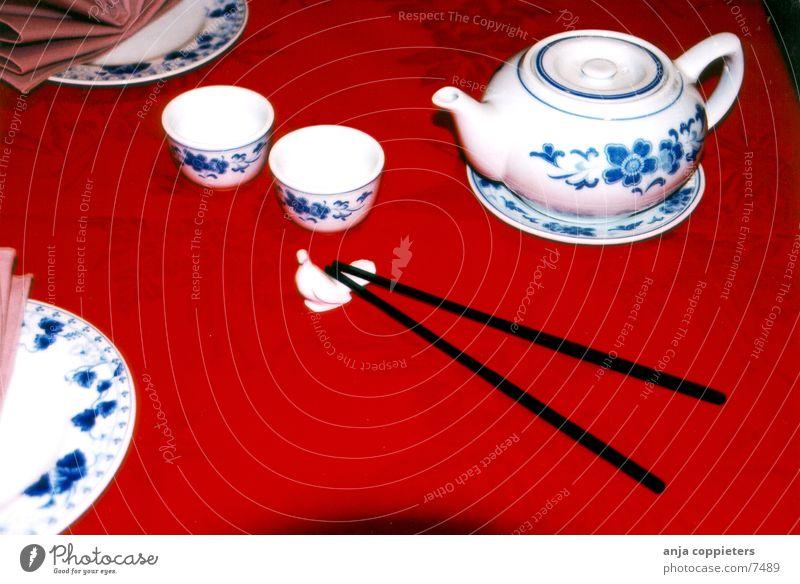 China table Ernährung Tisch China Restaurant Essstäbchen