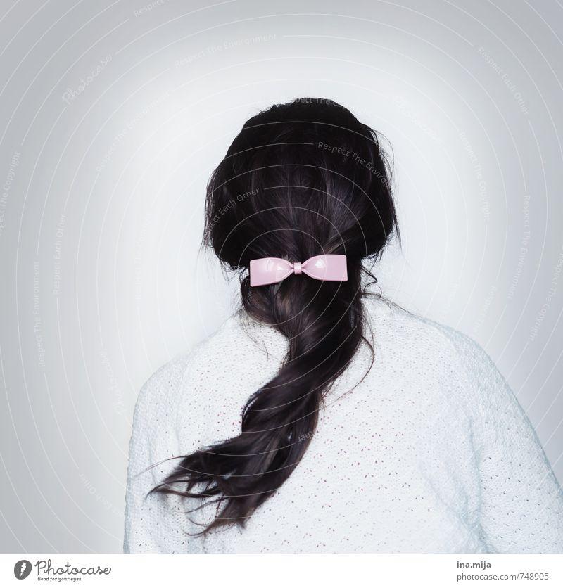 Haarmasche II Mensch Frau Kind Jugendliche Junge Frau 18-30 Jahre Erwachsene Haare & Frisuren Mode rosa 13-18 Jahre Rücken Bekleidung zart Schmuck brünett