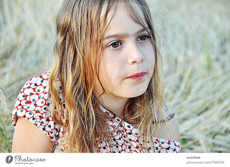 mädchen sein feminin Mädchen Junge Frau Jugendliche Kindheit Leben Körper Haut Kopf Haare & Frisuren Gesicht Auge Nase Mund Lippen 1 Mensch 8-13 Jahre Sommer