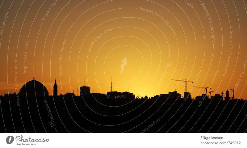 Jerusalem Night [1] Ferne Freiheit Sightseeing Städtereise Hauptstadt überbevölkert Bauwerk Architektur Sehenswürdigkeit Denkmal Religion & Glaube Judentum