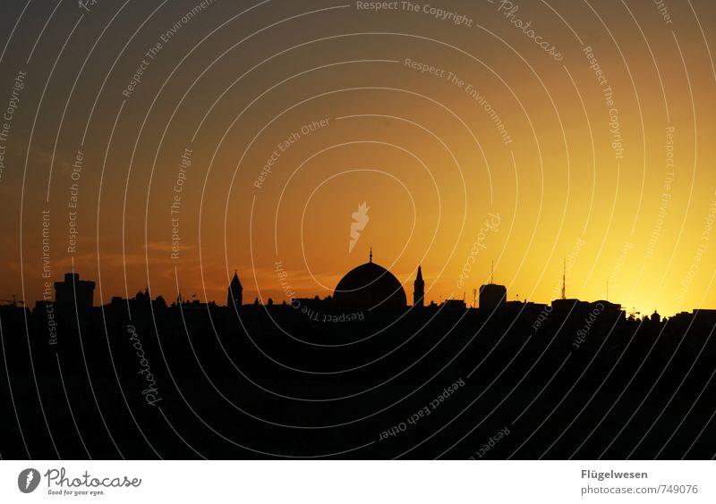 Jerusalem Night [2] Ferne Sightseeing Städtereise Hauptstadt überbevölkert Sehenswürdigkeit Wahrzeichen Denkmal Religion & Glaube Israel Moschee Felsendom