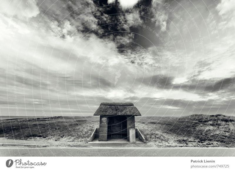 Einsame Welten Umwelt Natur Landschaft Urelemente Luft Himmel Wolken Sommer Klima Wetter schlechtes Wetter Unwetter Wind Sturm Insel Vertrauen Sicherheit Schutz