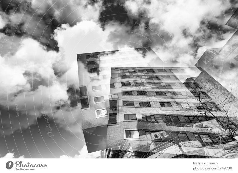 Vertigo Stadt Stadtzentrum Hochhaus Bankgebäude Industrieanlage Bauwerk Gebäude Architektur Reinheit bizarr Business Dekadenz Energie Kapitalwirtschaft