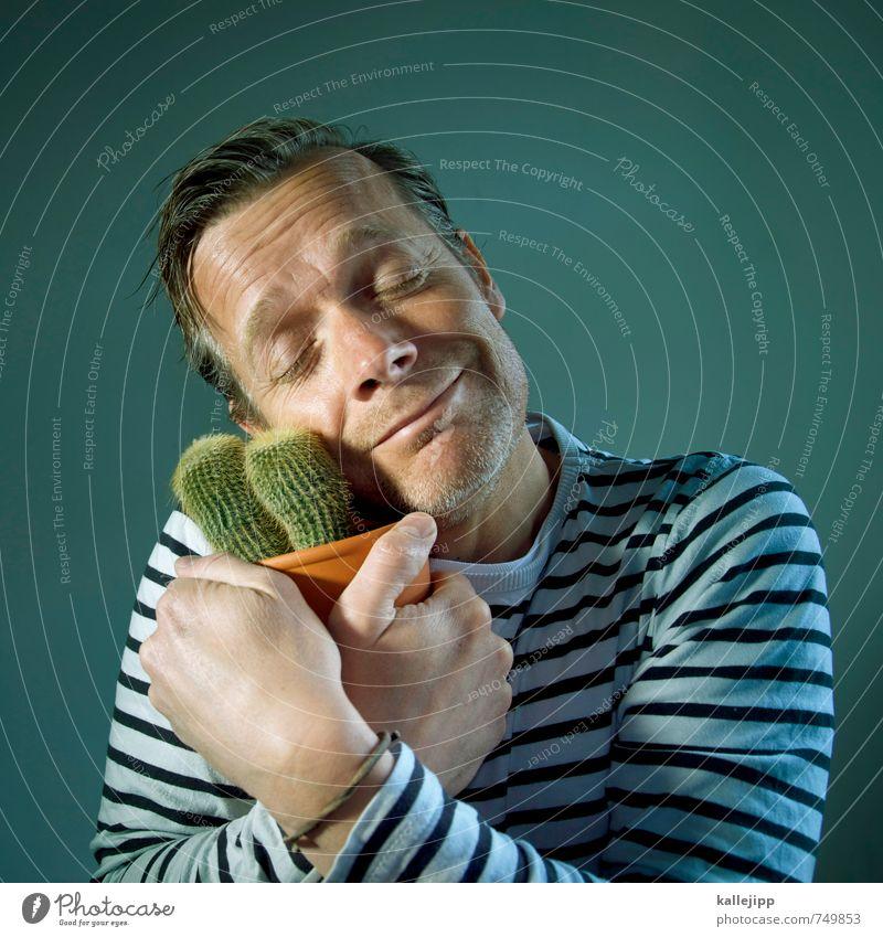 mein kleiner grüner kaktus Mensch Natur Mann grün Pflanze Erwachsene Gesicht Leben Liebe klein Kopf Freundschaft Freizeit & Hobby maskulin Lifestyle Leidenschaft