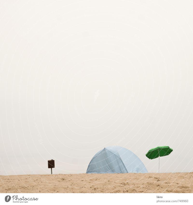 Strandtag ... Himmel Natur Ferien & Urlaub & Reisen blau Sommer Erholung Landschaft ruhig Wolken kalt Umwelt Küste Sand braun Freizeit & Hobby