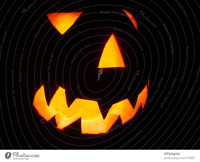 Halloween Gesicht dunkel Halloween Kürbis erschrecken