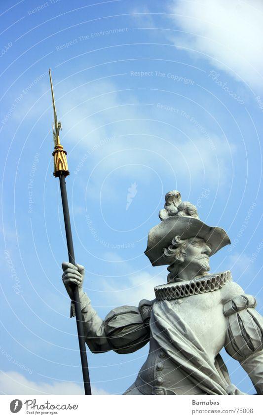 the aeon tick Himmel schön Wolken Stein gold Burg oder Schloss Statue heilig edel Griff Barock Wurfspieß Lanze