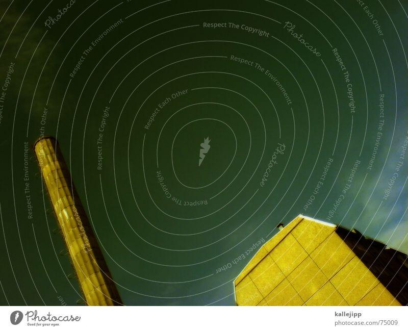 spaceship thirteen Himmel Haus Wand Weltall Schornstein UFO Astronaut Ozon Brandmauer Handy-Kamera