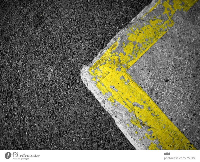 45° 60° 90° Asphalt grau gelb links Ecke flach Hintergrundbild Straße Schilder & Markierungen meterialmix nach rechts (wenn gespiegelt) Kontrast fast sw einfach
