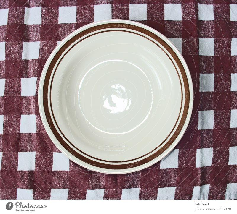 Teller Ernährung braun leer Appetit & Hunger Teller Diät Geschirr Suppenteller