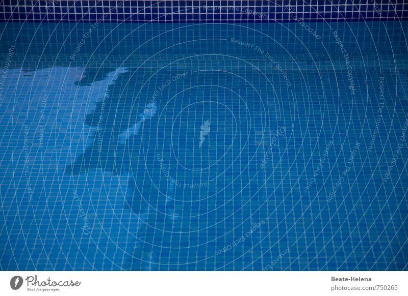 Abkühlung gefällig? Bitte schön! Schwimmen & Baden Schwimmbad Wasser Sommer Schönes Wetter Erholung ästhetisch maritim Sauberkeit blau Coolness Freizeit & Hobby