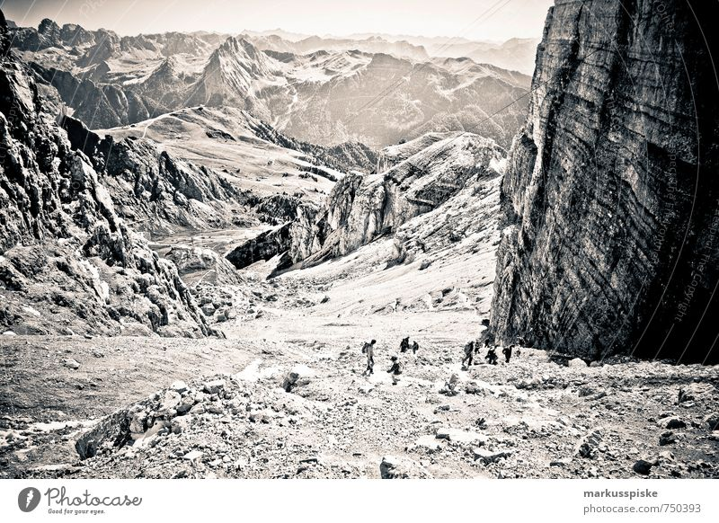 sella gruppe / piz boe - sass pordoi / marmolada Ferien & Urlaub & Reisen Sommer Erholung Landschaft Ferne Umwelt Berge u. Gebirge Leben Freiheit Felsen wild