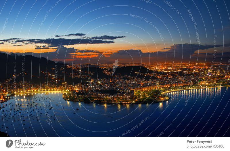 Rio de Janeiro 10 Natur Landschaft Himmel Horizont Sonnenaufgang Sonnenuntergang Bucht Brasilien Amerika Südamerika Stadt Sehenswürdigkeit ästhetisch Stimmung