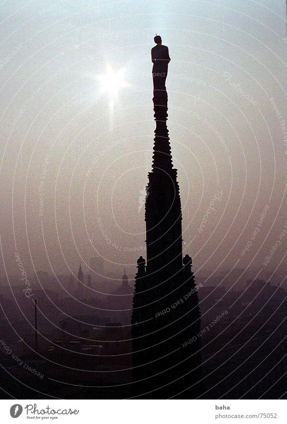 im Himmel Sonne Stadt ruhig Wolken Ferne dunkel hell Religion & Glaube Europa Dach Italien Spitze Dom