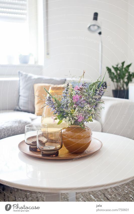 couchtisch Häusliches Leben Wohnung Innenarchitektur Dekoration & Verzierung Möbel Lampe Sofa Tisch Wohnzimmer Pflanze Blume Vase Glas Kissen ästhetisch