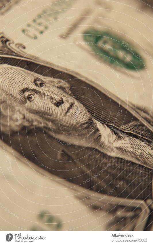 George is watching you US-Dollar Geld USA grün Papier Locken Makroaufnahme Lichterscheinung one dead presidents dead prez george washington adam weishaupt