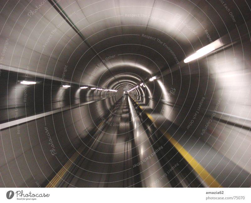 Tunel Licht Geschwindigkeit Streifen Unendlichkeit Ewigkeit Zürich Flughafen