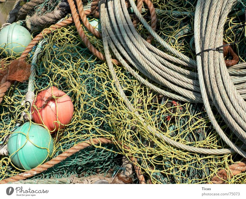 fischertechnik grün rot gelb grau Seil Fisch Netzwerk Netz Hafen Stillleben Partnerschaft chaotisch Angeln durcheinander Fischer Portwein