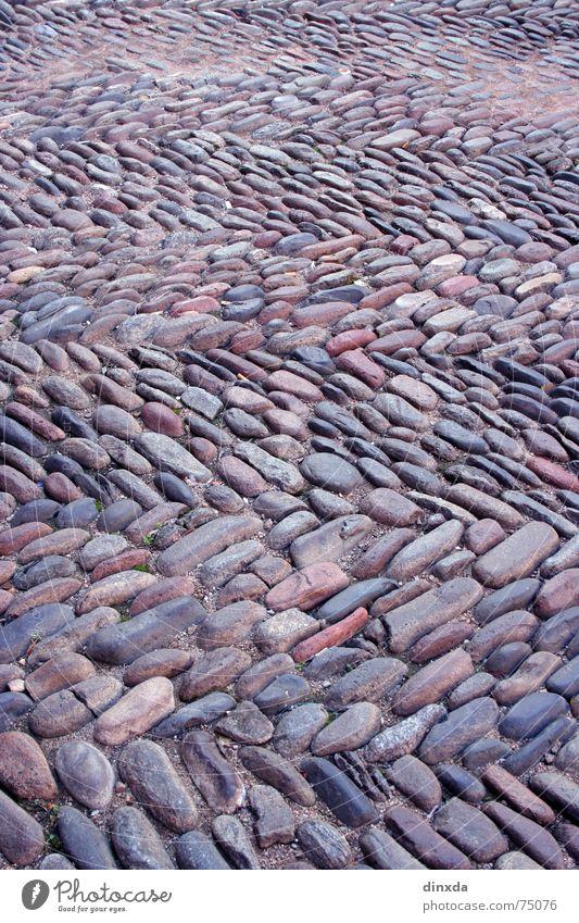 mal so und mal so steinig Kopfsteinpflaster Muster Streifen Stein Wege & Pfade Straße Pflastersteine